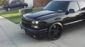 BLACKED OUT SILVERADO - YouTube