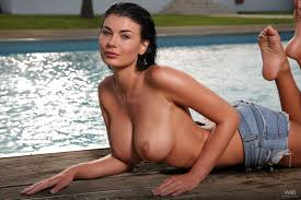 Lucy Li going for a Late Evening Dip Big Tits and Big Boobs at.