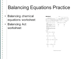 printable balancing equations grade 9 chemical practice