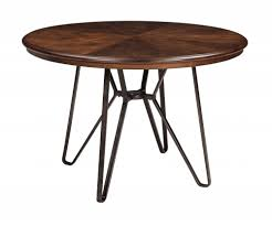 brown round dining table throughout centiar two tone room tables texas inspirations 12