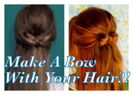 Bows In Hair Style make a bow with your hair back to school downdos 5 youtube 1185 by wearticles.com