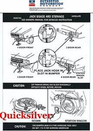 plymouth roadrunner 1973 74 plymouth satellite road runner gtx jacking instructions trunk lid decal