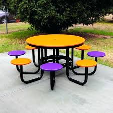 plastic round outdoor table resin outdoor table