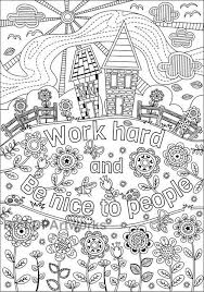 Two 2 Printable Coloring Pages For Kids Or Grown Ups Work Hard