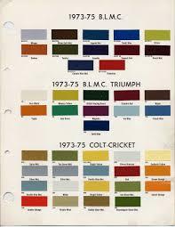 Austin Healey Color Chart Pin On Branding Identity Logos