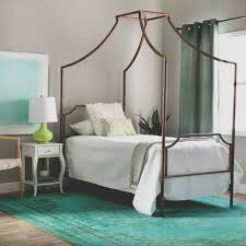 Bailey Brushed Copper Twin-size Canopy Bed | Bedroom Designs | Bed ...