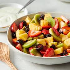 fruit salad bowl recipe. Simple Recipe Fresh Fruit Salad To Bowl Recipe D