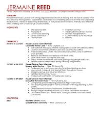House Cleaner Resume Sample House Cleaning Resume Sample Corol Lyfeline Co Templates Cleaner 17