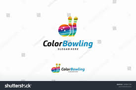 Logo Design Concept Presentation Colorful Bowling Logo Vector Sport Logo Designs Template