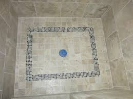 a properly sloped shower floor never puddles or holds water