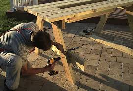 shape bench supports build picnic table