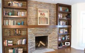 diy stone veneer fireplace surround