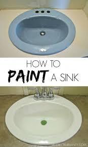 30 idées de bricolages très simples qui changent radicalement une pièce painting bathroom sinkspainting