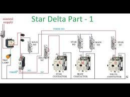 semi automatic star delta starter motor control circuit star delta starter motor control circuit diagram in hindi