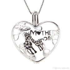 russian crystal jewelry whole heart lockets for girls