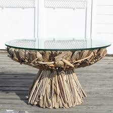 diy-driftwood-decor-round-dining-table-glass-top