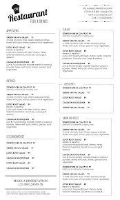 Word Restaurant Menu Templates Menu Template Word As Well Blank Christmas With Restaurant Wordpress