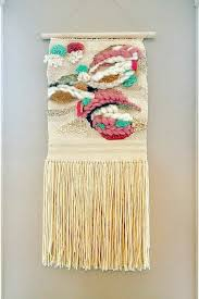 c i wall hanging woven tapestry