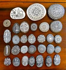 much more elegantly painted rocks beautiful in a subtle organic way mandala art