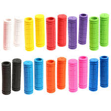 <b>1 Pair</b> Bicycle <b>Handlebar Grips</b> Cover Comfortable Rubber Bike ...
