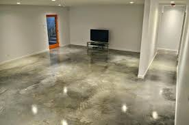 painted concrete floors do it yourself bat wall paint stain finished clean basement floor how to