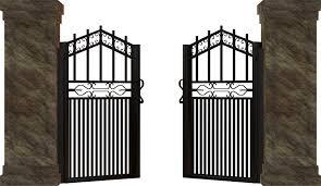 goal metal input iron old iron gate access open