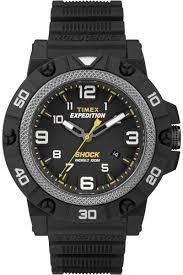 mens watch timex expedition shock silicone black resin indiglo mens watch timex expedition shock silicone black resin