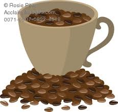 coffee beans clip art.  Clip Cup Of Coffee Beans Sitting On A Mound RoyaltyFree Clip Art  Image Intended F