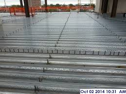 Installed Shear Studs Throughout The 4th Floor Facing South