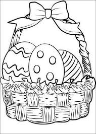 Small Picture Easter coloring pages egg in basket ColoringStar