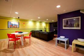 image of basement wall paint color ideas