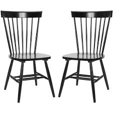 black side chair. Safavieh Country Classic Dining Lifestyle Spindle Back Black Chairs (Set Of 2) - Free Shipping Today Overstock.com 14028894 Side Chair