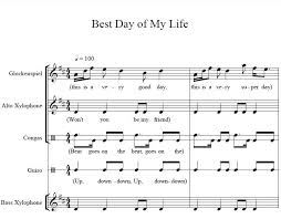 best day of my life orff arrangements elementary music and orff arrangement for best day of my life