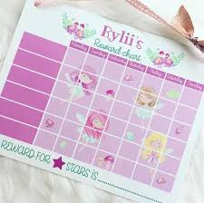 Dry Wipe Fairy Reward Chart Wall Hanging Chore Chart Behaviour Help Flowers Personalised With Name Potty Training Positive Parenting
