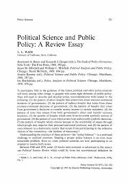 on politics essays on politics