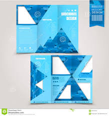 brochure template creative tri fold brochure template design stock vector