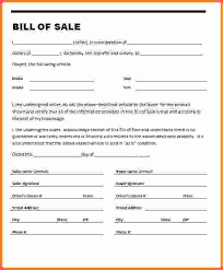 example of bill of sale example of bill of sale for car template business