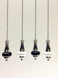 light pull cord ceramic chrome chain 1m