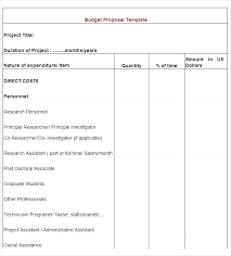 Ms Office Proposal Template Microsoft Office Fax Template Free Budget Form Grant Proposal