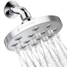 SparkPod Power Rain Shower Head - <b>Luxury Modern</b> Chrome Look ...