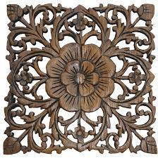 small carved wood wall plaque rustic