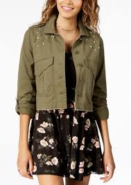 american rag juniors cotton embellished utility jacket created for macy s