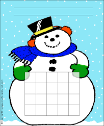 Winter Incentive Charts Www Preschoolprintables Com Winter Snowman Sticker Chart