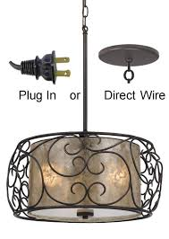 home and furniture traditional swag plug in chandelier on crystal chandeliers with large black shade