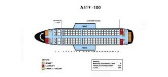 A319 Seating Chart Philippine Airlines Airbus A319 100 Aircraft Seating Chart