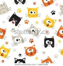 cute cat pattern wallpaper. Fine Cat Vector Seamless Pattern With Cute Cartoon Cats Seamless Can Be  Used For Wallpaper For Cute Cat Pattern Wallpaper T
