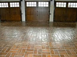concrete tiles garage floor wax on finish