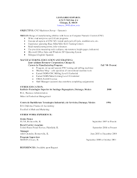 Machinist Resume Examples Examples Of Resumes