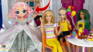Công Chúa Disney Nữ Hoàng Elsa Thì Đấu Phép Thuật với Búp Bê O M G LOL  Winter Disco Crystal Star - YouTube