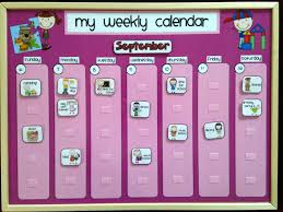 Weekly Kids Calendar Schedule Activity Chore Chart
